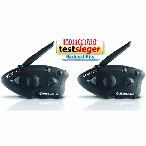 MIDLAND BT Next Conference, TWIN Bluetooth Headset für Motorradhelme Set